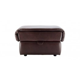 G Plan Henley Leather - Storage Footstool