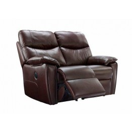 G Plan Henley Leather - 2 Seater Powered Recliner Sofa Double