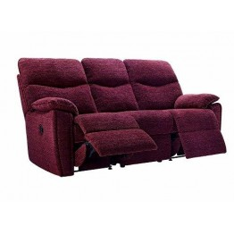 G Plan Henley Fabric - 3 Seater Manual Recliner Sofa Double