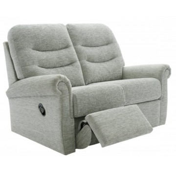 G Plan Holmes 2 Seater Manual Recliner Sofa - Left Hand Facing OR Right Hand Facing not both - (Call us on 01283 740004 about having this upgraded to a Powered Recliner action for free - Ends 4th Nov 2020)