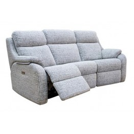 G Plan Kingsbury 3 Seater Power Recliner Curved Sofa with Adjustable Headrest & Lumbar - ( Buying a suite? Get the upgrade to free Adjustable Headrest & Lumber. Offer ends 4th Nov 2020. Call us on 01283 740004 for more details)