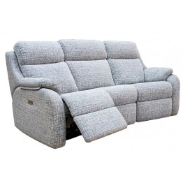 G Plan Kingsbury 3 Seater Manual Recliner Curved Sofa - (Call us on 01283 740004 about having this upgraded to a Powered Recliner action for free - Ends 4th Nov 2020)