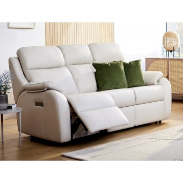 G Plan Kingsbury 3 Seater Power Recliner Sofa with Adjustable Headrest & Lumbar - ( Buying a suite? Get the upgrade to free Adjustable Headrest & Lumber. Offer ends 4th Nov 2020. Call us on 01283 740004 for more details)