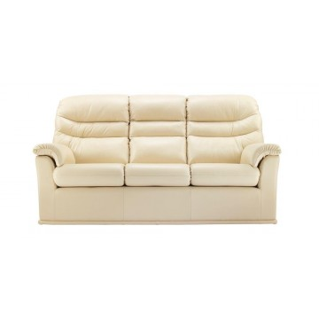 G Plan Malvern Leather - 3 Seater Manual Recliner Sofa Double