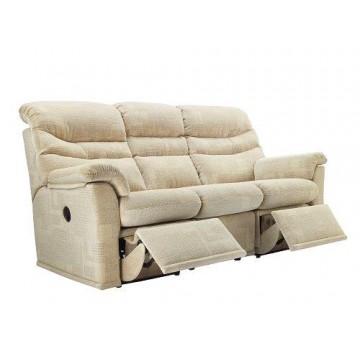 G Plan Malvern Fabric - 3 Seater Manual Recliner Sofa Double