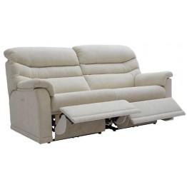 G Plan Malvern Fabric - 3 Seater Manual Recliner Sofa Double (2 cushion version)