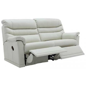 G Plan Malvern Leather - 3 Seater Manual Recliner Sofa Double - 2 cushion version