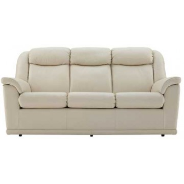 G Plan Milton Leather  - 3 Seater Manual Recliner Sofa Double