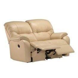 G Plan Mistral Leather - 2 Seater Small Manual Recliner Sofa Double