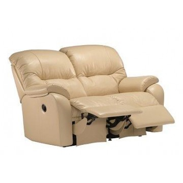 G Plan Mistral Leather - 2 Seater Small Power Recliner Sofa Double - (Call us on 01283 740004 about having this power recliner but priced as a manual version - Offer ends 4th Nov 2020)