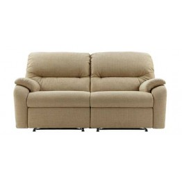 G Plan Mistral Fabric - 3 Seater Powered Recliner Sofa Double - 2 cushion version