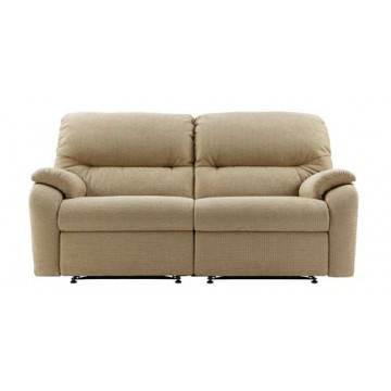 G Plan Mistral Fabric - 3 Seater Manual Recliner Sofa Double - 2 Cushion version