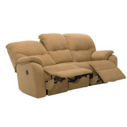 G Plan Mistral Fabric - 3 Seater Small Manual Recliner Sofa Double