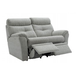 G Plan Newton Leather Manual Reclining 2 Seater Sofa - Double side reclining