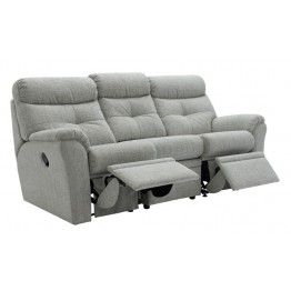 G Plan Newton Fabric Manual Reclining 3 Seater Sofa - Double side reclining