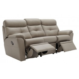 G Plan Newton Leather Manual Reclining 3 Seater Sofa - Choose either LHF or RHF