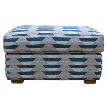 G Plan Seattle Footstool in Fabric - Fixed Top