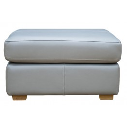G Plan Seattle Footstool in Leather - Fixed Top