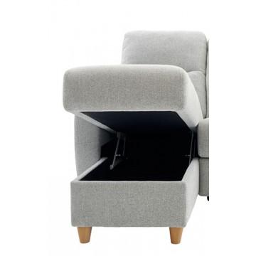 Modular Item - G Plan Spencer LHF Storage Chaise Unit - Fabric