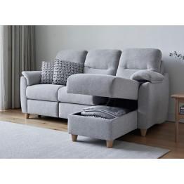 Modular Item - G Plan Spencer RHF Storage Chaise Unit - Fabric