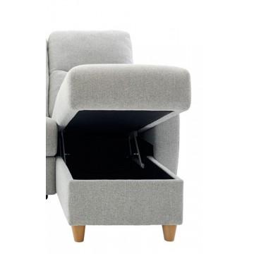 Modular Item - G Plan Spencer RHF Storage Chaise Unit - Leather