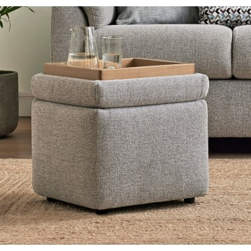 G Plan Spencer Storage Footstool - Leather