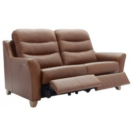 G Plan Tate Leather 3 Seater Electric Recliner Settee