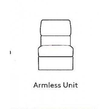 G Plan Taylor Leather - Modular Item - Large Armless Unit