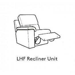 G Plan Taylor Fabric - Modular Item - Large LHF Arm Unit / RHF Arm Electric Reclining Unit