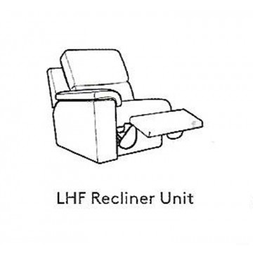 G Plan Taylor Leather - Modular Item - LHF Arm Unit / RHF Arm Electric Reclining Unit