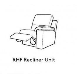 G Plan Taylor Leather - Modular Item - LHF Arm Unit / RHF Arm Manual Reclining Unit