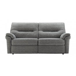 G Plan Washington Fabric - 3 Seater Manual Recliner Sofa Double