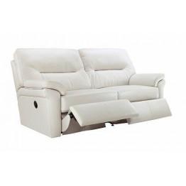 G Plan Washington Leather - 3 Seater Manual Recliner Sofa Double
