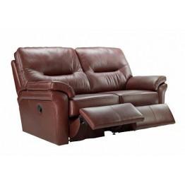 G Plan Washington Leather - 2 Seater Manual Recliner Sofa Double