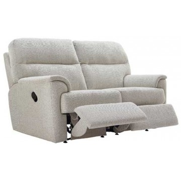 G Plan Watson Fabric  - Powered Reclining 2 Seater Sofa - Double Sided
