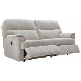 G Plan Watson Fabric  - Manual Reclining 3 Seater Sofa - Double Sided