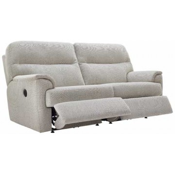 G Plan Watson Fabric  - Powered Reclining 3 Seater Sofa - Double Sided