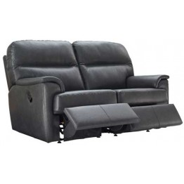 G Plan Watson Leather - Powered Reclining 2 Seater Sofa