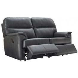 G Plan Watson Leather - Manual Reclining 2 Seater Sofa