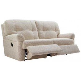 G Plan Winslet Fabric  - Manual Reclining 3 Seater Sofa - Double