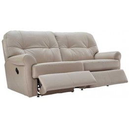 G Plan Winslet Leather  - Manual Reclining 3 Seater Sofa