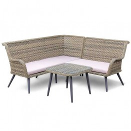 Contemporary Corner Sofa Set with Coffee Table