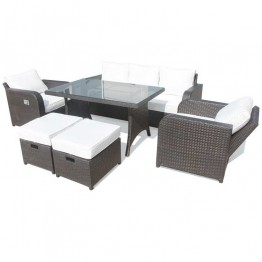 Dylan Sofa Dining Set With Two Recliner Armchairs