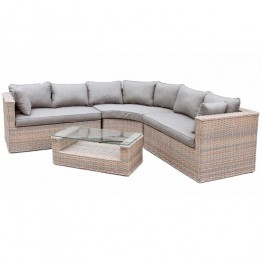 Heritage 2.5m x 2.5m Curved corner sofa with coffee table