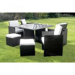 Premium 8 Seat Cube Rattan Dining Set