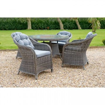 Windsor 4 Seater 1.2m Round table dining set