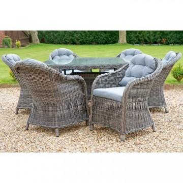 Windsor 6 Seater 1.35m Round table dining set - RW162