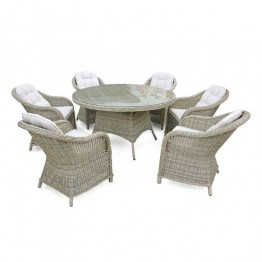 Windsor 6 Seater 1.4m Round table dining set