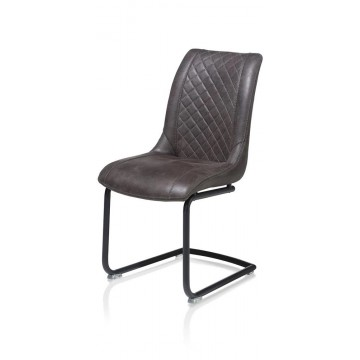 Habufa 22443 Armin Leather Dining Chair - Anthracite