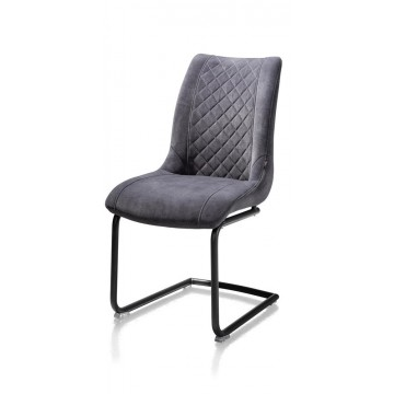 Habufa 22441 Armin Plush Velvet Dining Chair - Anthracite